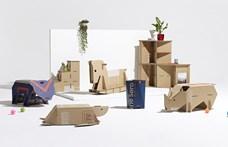 Jópofa kartonállatkák hajtogathatók a Samsung tévék dobozából