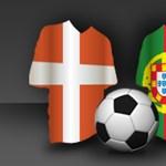 Élőben a dán-portugál meccsről