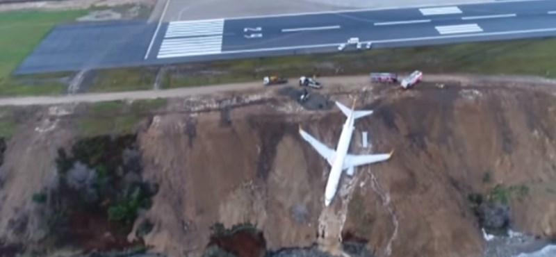 Elképesztő: majdnem a tengerbe csúszott egy repülő Törökországban
