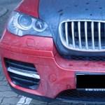 Elég feltűnő volt a lopott X6-os BMW, a csanádpalotai rendőröknek is szemet szúrt