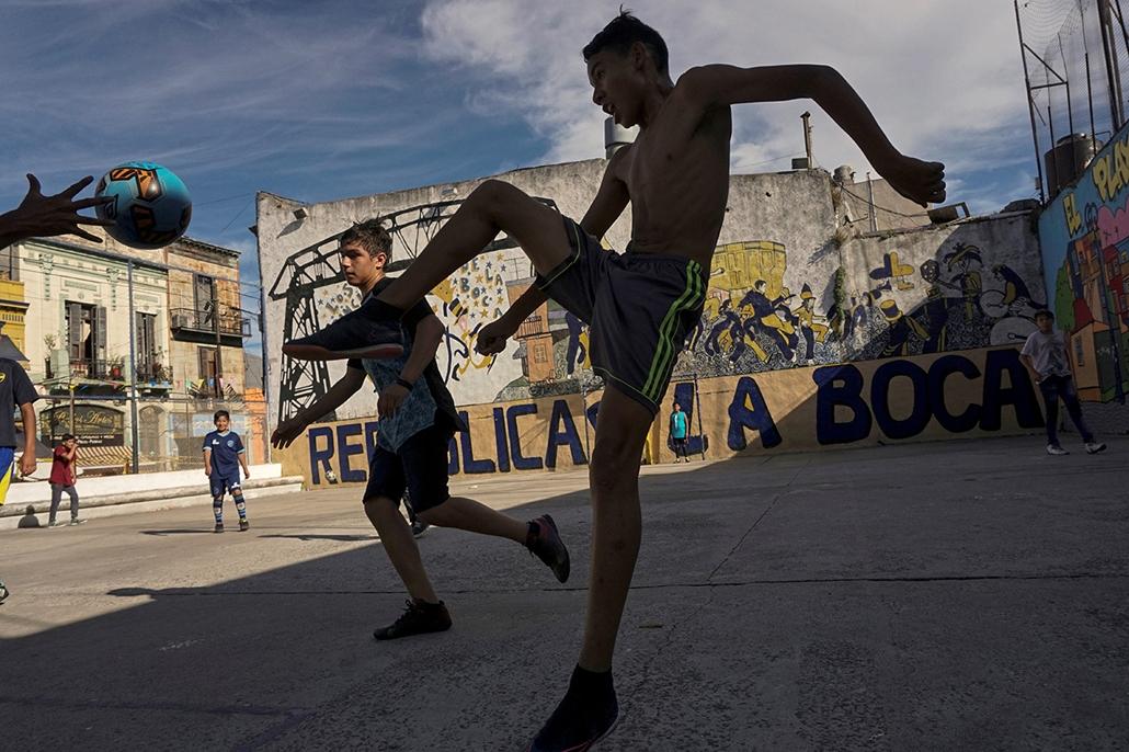 afp.17.12.12. - Buenos Aires la Boca negyed foci