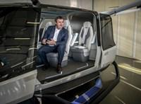 Orbán köréből repült fel a hidrogénes helikopter