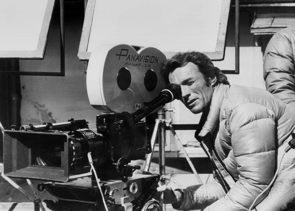 afp.1974.09.11. - Clint Eastwood a Bosszú az Eiger csúcsán forgatásán Németországban 1974 szeptemberében.