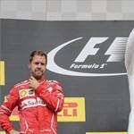 Alig pár pont előnye van már csak Vettelnek