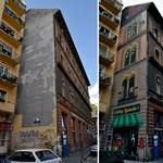 Fotók: Fantasztikus lett a befestett tűzfal a Dob utcában