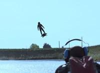Légdeszkán repüli át a La Manche csatornát a francia feltaláló