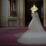 Diana hercegnő menyasszonyi fátyla bekúszik a képernyőre