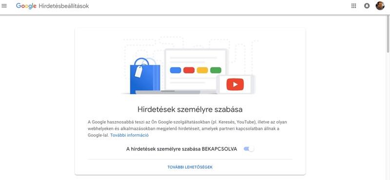 Csinált a Google egy oldalt, ahol ön is beállíthatja, milyen hirdetéseket (nem) akar látni az interneten