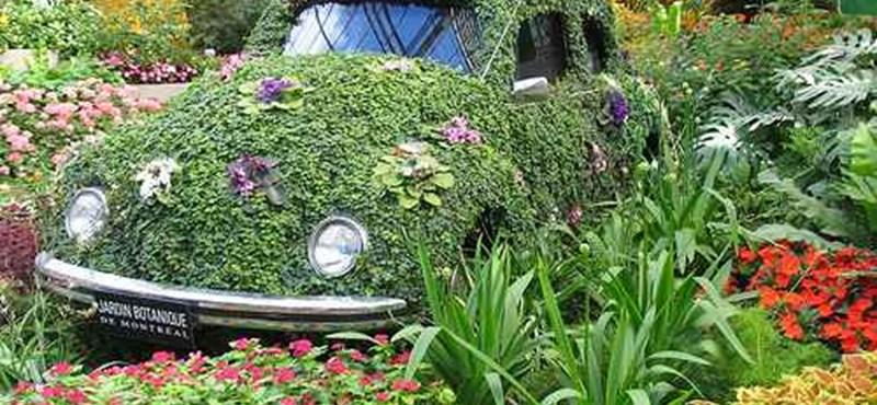 Virágba borult autók