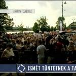 Így manipulál a Vajna-TV, ha tüntető tanárt lát