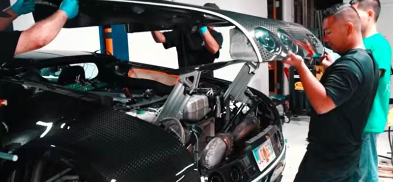 Videó: Annyiba kerül a Bugatti Veyron olajcseréje, mint egy új autó