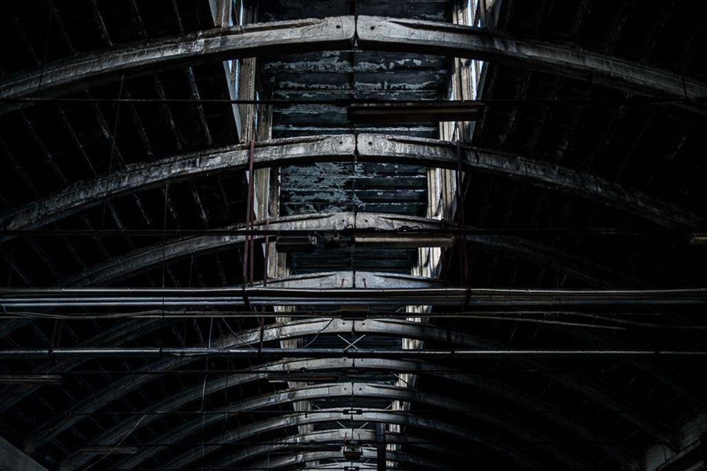 Budapesti grund a Nyugati pályaudvar mögött