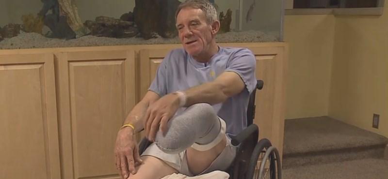 Munkagépbe szorult a lába, levágta a zsebkésével