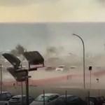 Tornádó okozott pánikot egy szicíliai tengerparti sétányon