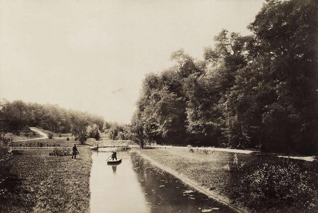 fortep_! - Klösz György kastély nagyítás - A nagyszentmiklósi Nákó-féle kastély tórészlete. A felvétel 1895-1899 között készült.