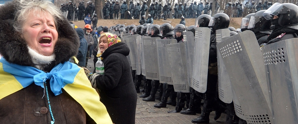 afp.14.01.22. - Kijev, Ukrajna: tüntetések - Ukrán tüntetések