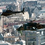 Fotók: harci helikopter a Duna felett