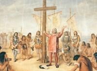 Egy amerikai katolikus egyetem letakarja a Kolumbuszt ábrázoló falfestményeket