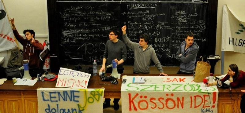 Kirúgások az ELTE-n: élőlánccal tiltakoznak az egyetemfoglalók kedden