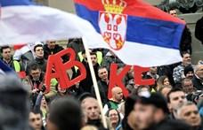 Szombaton újra az ellenzék tüntetett Belgrádban