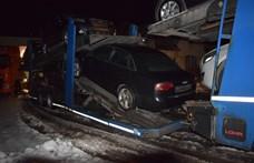 Egy autószállítón próbált egy lopott Audit átvinni Romániába
