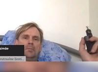 E-cigivel a szájában, az ágyában fekve jelentkezett be a parlamenti vitára egy észt képviselő