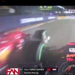 Így nézett ki a szingapúri rajtbaleset, amikor Max Verstappen bekerült a darálóba – videó