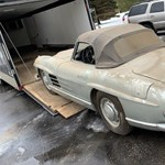 Méregdrága pajtalelet: alig használt 60 éves Mercedes 300 SL bukkant fel