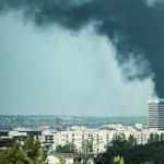 Szeméthalom füstölt nagyon Budapesten – fotó