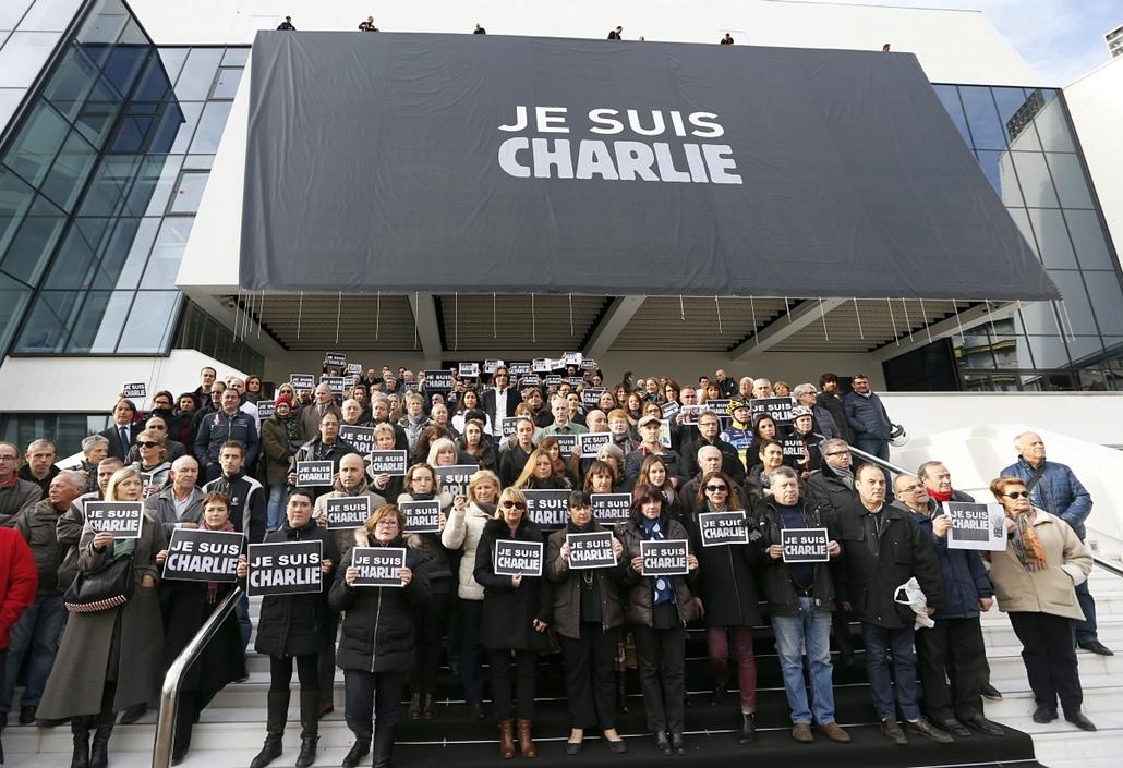 afp. lövöldözés Párizsban, Párizsi vérengzés, Charlie Hebdo, túszejtés, túszdráma, Dammartin-en-Goele, 2015.01.09. Cannes,
