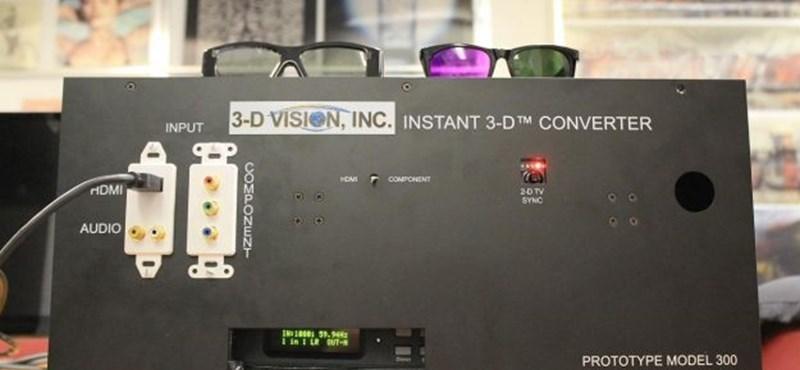 Így lehet 3D-s televízió akármilyen tévéből