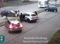Hózáporban teperték földre a pedofilt Győrben - videóval