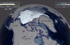 Sokkal gyorsabban olvad a sarki jég, mint hittük, drámai videón a változás