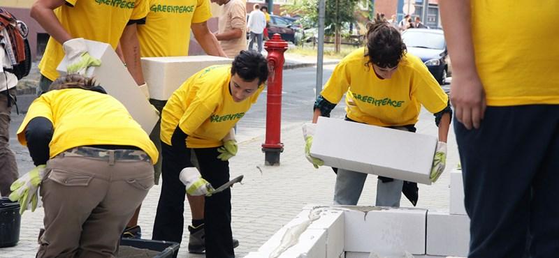 Greenpeace-akció az atomenergia ellen