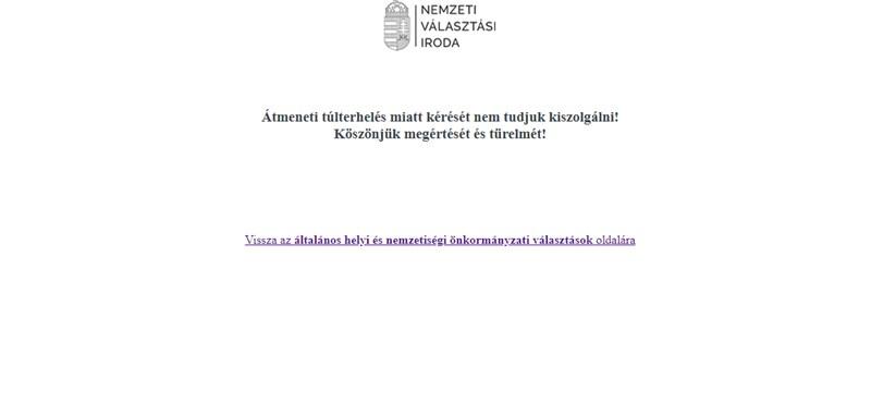 NVI-elnök: informatikai átállás miatt akadozott a Választás.hu