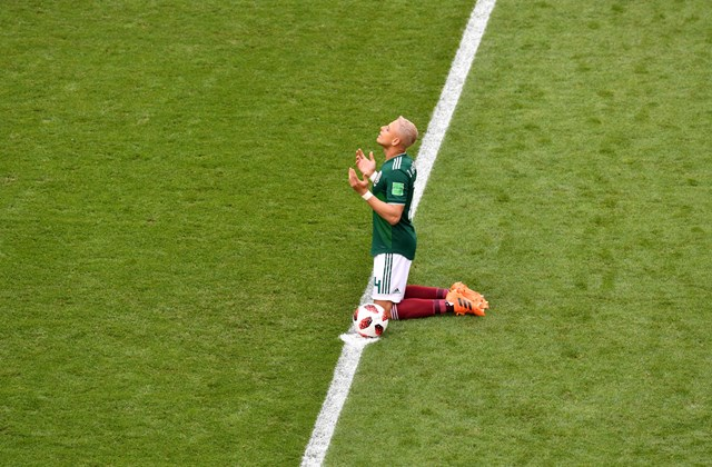 afp.18.07.09. - Ima - A mexikói támadó, Javier Hernandez.