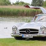 Nyugatnémet időgép: teszten a szuperritka sirályszárnyas Mercedes 300 SL