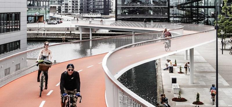 """100 kilométeres """"kerékpár-autópályát"""" építenek a németek"""
