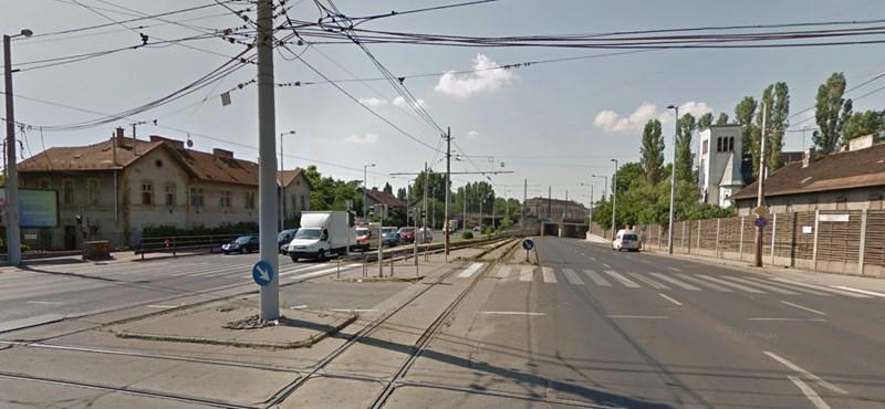 A nap fotója: Egy kis budapesti villamosfelújítás-abszurd