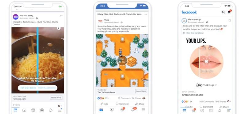Nézze csak, milyen újfajta, érdekes reklámok jönnek a Facebookra
