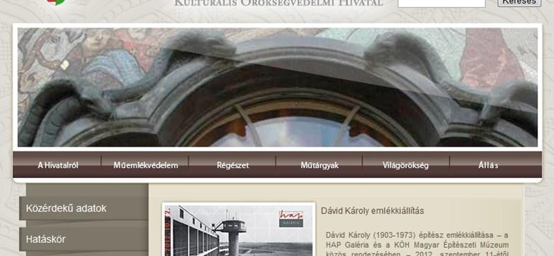 Index: megszüntetik a Kulturális Örökségvédelmi Hivatalt