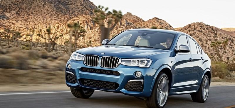 360 lóerővel garázdálkodik a BMW X4 csúcsváltozata