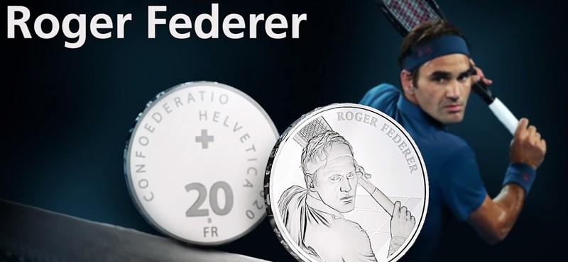 Emlékérmére sajtolják Roger Federert
