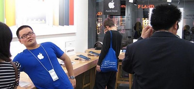 Már az Apple-boltokat is hamisítják Kínában